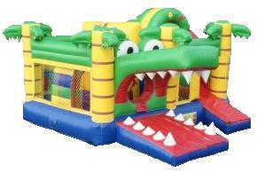 Springkasteel krokodil multiplay huren